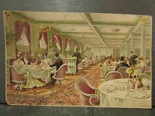 cpa bateau paquebot la provence salle a manger illustrateur e levis