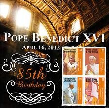 Grenada Grenadines 2012 MNH Pope Benedict XVI 85th Bday 4v M/S II Popes Stamps