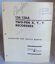 HP 136/136A Two-Pen Recorder Operating and Service Manual, great condition!
