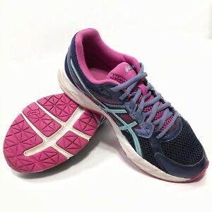✅💟✅@ Asics Women Gel Contend 3 Running Shoes Purple Pink T5F9N Lace Up 8.5 Eu40