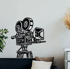 Film Camera Wall Decal Cinema Vinyl Sticker Movie Poster Home Theater Decor 844