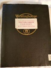 1940 Westinghouse Instruction Manual Carrier Current Transmitter-Receiver Unit