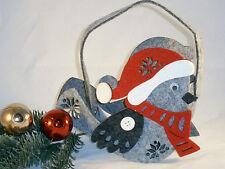 Weihnachten Nikolaus Geschenktüte Vogel Spatz Tasche Geschenkkorb Körbchen Tüte