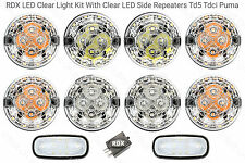 RDX LED CLEAR 8 Lamp/lights Side Repeaters Defender 1998 to 2016 Td5/Tdci C