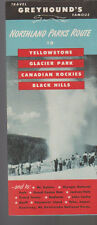 Travel Greyhound's Famous Northland Parks Route Brochure Yellowstone Black Hills