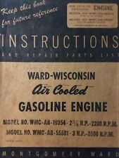Wisconsin Engine WMC-AB- Montgomery Ward Tractor Owner, Service & Parts Manual