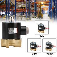 """12V/24V/220V 3/8"""" Brass Normal Closed Electric Solenoid Valve For Water Gas Oil"""