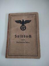 German Ww2 Soldbuch
