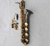 Professional Black Nickel TaiShan Baritone Saxophone Eb Sax Low A High F# 2 Neck