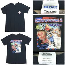 New listing Mens Medium 39in Chest Black Pocket Motorcycle American Drome Wall Death T-Shirt