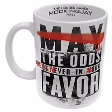 122892 MAY THE ODDS HUNGER GAMES MOCKINGJAY PART 2 CERAMIC 330ml COFFEE MUG