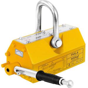 600KG Steel Permanent Magnetic Lifter Heavy Duty Crane Hoist Lifting Magnet UK