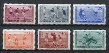 35417) COSTA RICA 1960 MNH** Soccer Champ. 6v Scott#