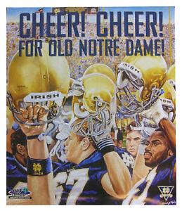 Notre Dame Fighting Irish Football Poster MINT