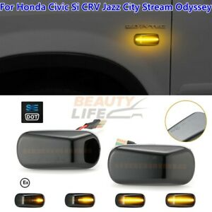 Sequential LED Side Marker Dynamic Turn Signal Light For Honda Civic Si CRV Jazz