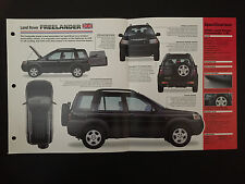 Land Rover Freelander IMP Hot Cars Spec Sheet Folder Brochure RARE