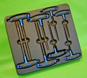 Snap On Tools 8pc T&L-Shaped Combination Hex Allen Key Screwdriver Set (168)
