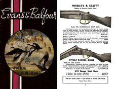 Evans & Balfour 1965 Gun Catalog, Melbourne, Australia
