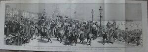 ORIGINAL 1892 'BRIGHTON-THE KINGS ROAD' EXTRA LARGE PRINT VERY GOOD CONDITION