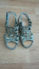 Size 5 green Blue Leather Clarks Sandals First Class Condition