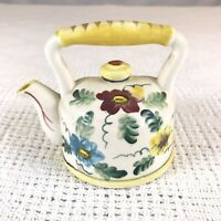 Vintage Ceramic Colorful Floral Tea Pot Kettle Planter Sponge Holder JAPAN