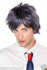 Halloween Navy Blue Short Wavy Cosplay Wig Costume for Men/ Women WT0044