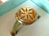 CHRISTMAS GIFTS, DETECTOR FIND & POLISHED,200-400 A.D ROMAN BRONZE RING.