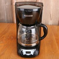 BLACK+DECKER 12-Cup Programmable Coffeemaker with Glass Carafe Black DLX1050B