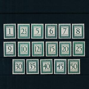 [NAP44] Netherlands Antilles 1952-1959 Postage due complete set  MNH