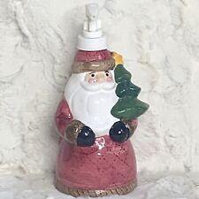 "Vintage Santa Claus Ceramic Soap Lotion Dispenser Christmas New Old Stock 8"""