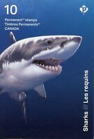 Canada 2018 MNH Sharks Great White Shark 10v S/A Booklet Marine Animals Stamps