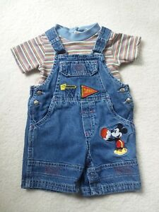 Baby Infant Boys Clothes Shirt Top Overalls 2 Piece Set 18 Months Mickey Mouse