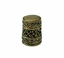 Brass Thimble collection Patterns,rare,very detailed item,collectable