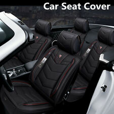 6D 5-Seat Car SUV Seat Cover Seat Cushion Senior Microfiber Leather+Sponge Layer