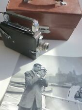 VINTAGE 1936 CINE KODAK MAGAZINE CAMERA. RIGID LEATHER CASE. CARY GRANT PHOTO