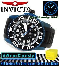 NIB LUMINOUS New Invicta Mens 52mm Pro DIver Sport 14667 Blue/Black SWISS MADE