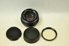 Asahi Pentax-M bayonet 50mm f2.0 manual focus lens with filter and caps