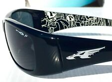 NEW* Arnette QUICK DRAW BLACK Sport POLARIZED GREY Sunglass 4178-2148