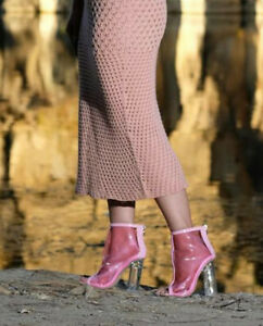 Blogger Cinderella Schuhe durchsichtig pink