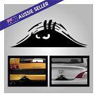 Peeping Monster Peeking Sticker BLACK - Family Car Decal Funny My Bumper JDM Van