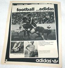 FOOTBALL POSTER PUB ADIDAS NANTES STADE RENNAIS 1/32 FINALE COUPE DE FRANCE 1974