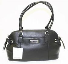NWT Calvin Klein  H3JDA2BW  Handbag Satchel  Modena Leather Black