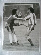 More details for press photo 1981 world cup-chile's manuel rojas receives kick from defender