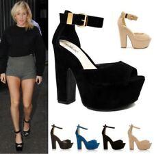 Buckle Wedge Formal Heels for Women