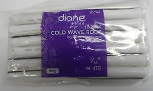 "Diane 7/16"" Cold Wave Rods Curlers Hair Perm #DCW4 12-pieces - White - Long"