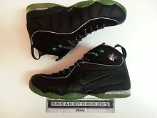 Nike Air Penny 1/2 Half Cent Black Green size 10. 344646-002. foamposite i ii i