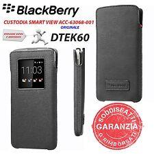 CUSTODIA COVER SMART VIEW NERO ORIGINALE BLACKBERRY ACC-63068-001 PER DTEK60