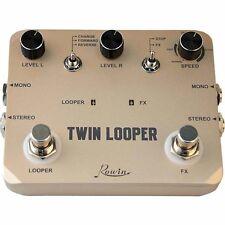 Original Rowin LTL-02 Twin Looper Electric Guitar Effect Pedal Loop Station