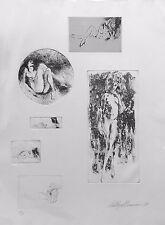 "LEROY NEIMAN ""SIX NUDES"" 1980 | RARE HAND SIGNED ETCHING | MAKE AN OFFER GALLART"