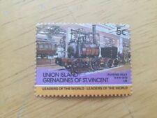 Timbres avec 5 timbres sur les trains, chemins de fer